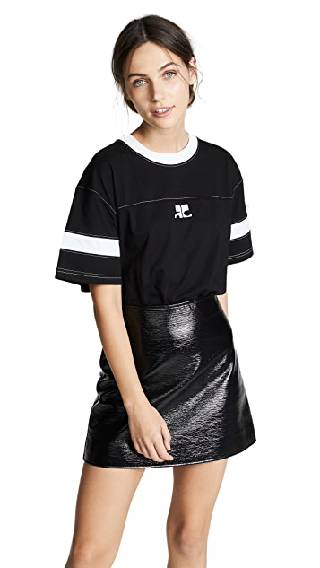 Courreges Oversized Logo T-Shirt