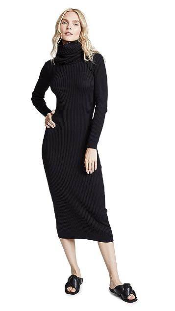 Courreges Maxi Dress with Detachable Collar