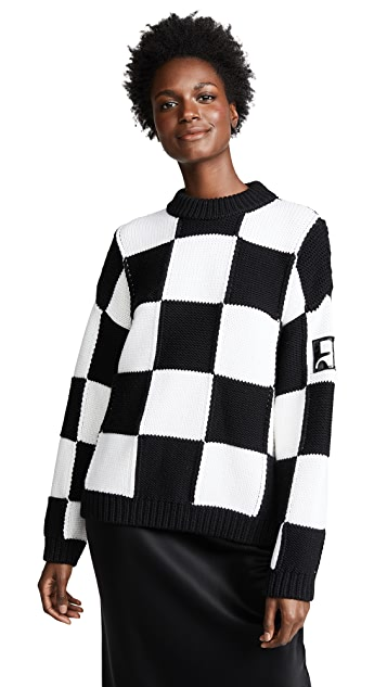 Courreges Oversized Check Sweater