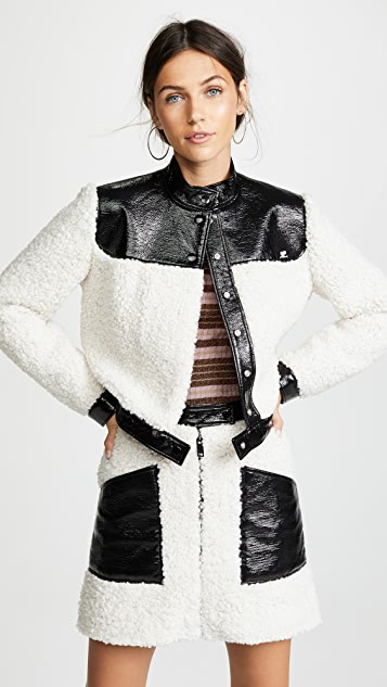 Courreges Sherpa Cropped Jacket