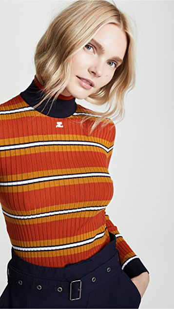 Courreges Striped Sweater