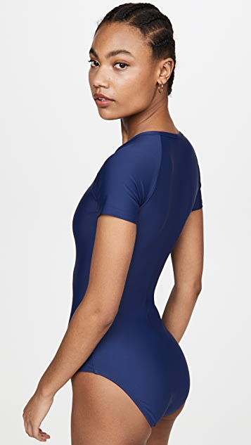 Cover Short Sleeve Swimsuit