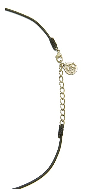 Cloverpost Leather Choker Triangle Necklace