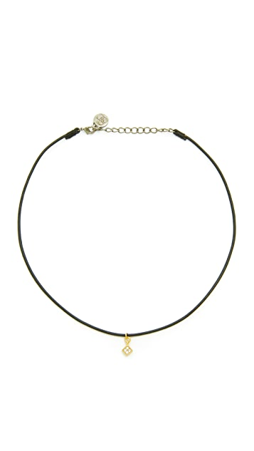 Cloverpost Leather Choker Quad Necklace