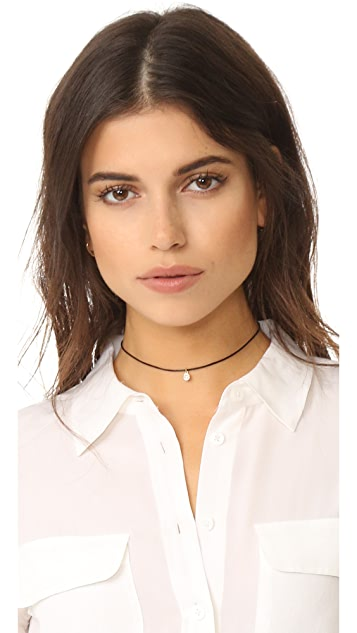 Cloverpost Spool Leather Choker Necklace