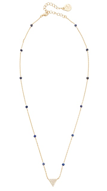 Cloverpost Gem Triangle Necklace