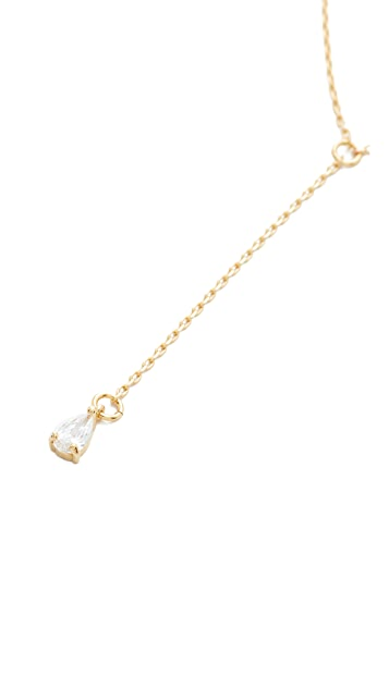 Cloverpost Tear Slope Necklace