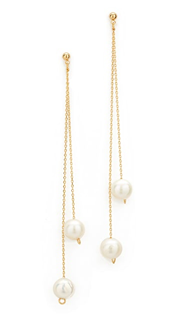 Cloverpost Freshwater Cultured Pearl Whirl Earrings