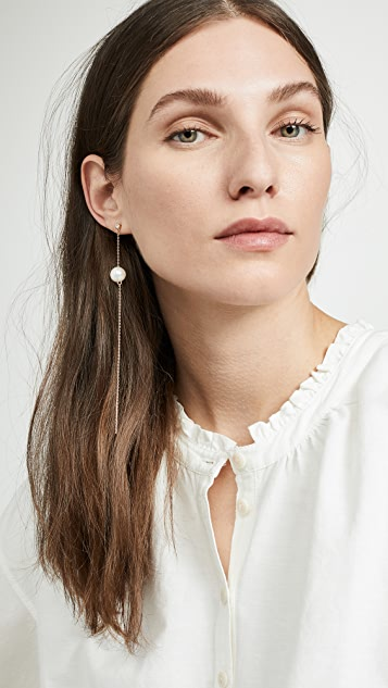 Cloverpost Buoy Single Earring with Freshwater Cultured Pearl