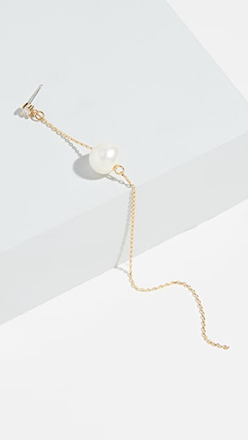 Cloverpost Buoy 淡水养殖珍珠单耳环