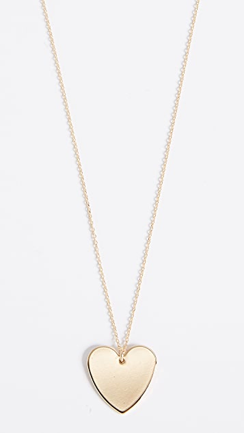 Cloverpost Heart Necklace - Yellow Gold