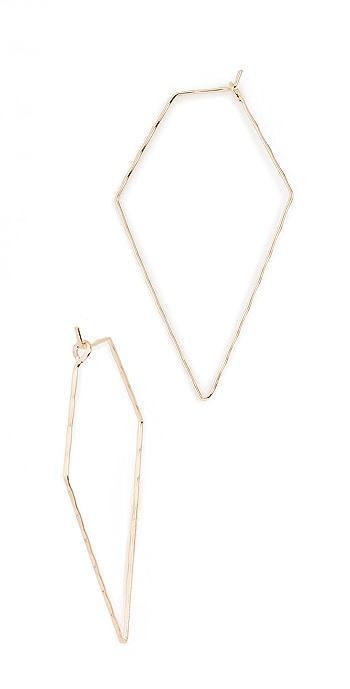 Cloverpost Pine Earrings - Yellow Gold