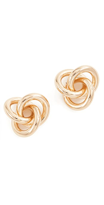 Cloverpost Fortune Earrings - Yellow Gold