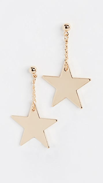 Cloverpost Star Skim Earrings - Gold