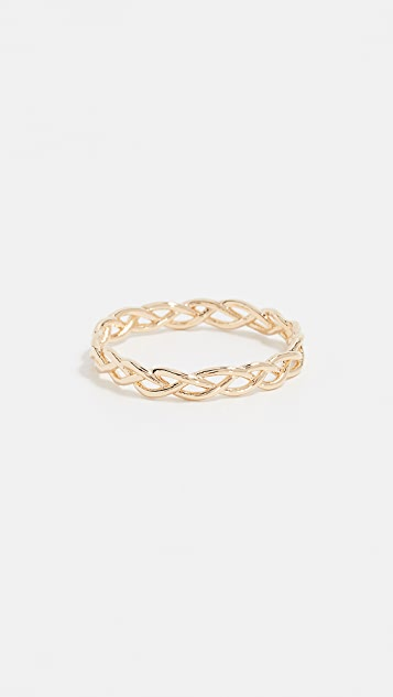 Cloverpost Woven Ring - Yellow Gold