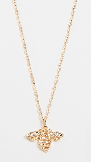 Cloverpost Bee Necklace - Yellow Gold