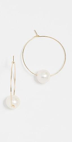 Cloverpost - Freshwater Cultured Pearl Around Hoop Earrings