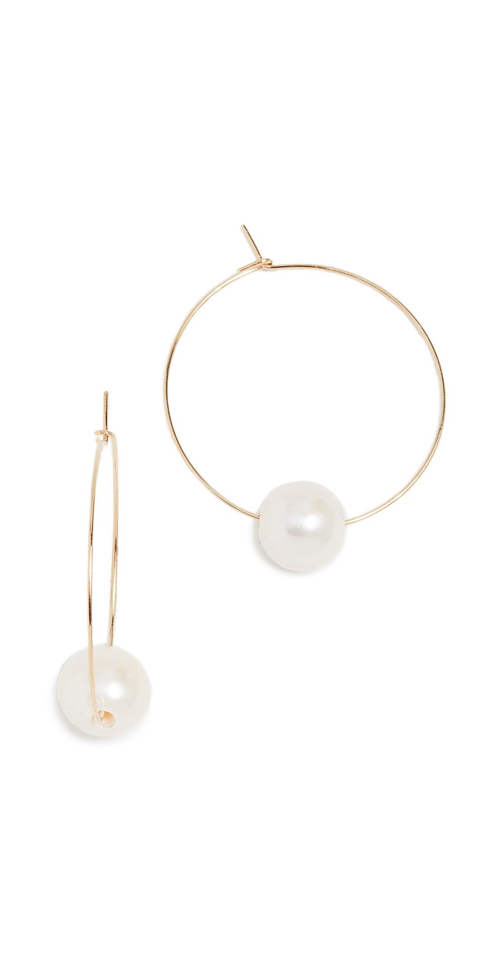 Freshwater Cultured Pearl Around Hoop Earrings
