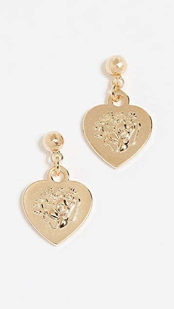 Cloverpost Portal Earrings - Yellow Gold