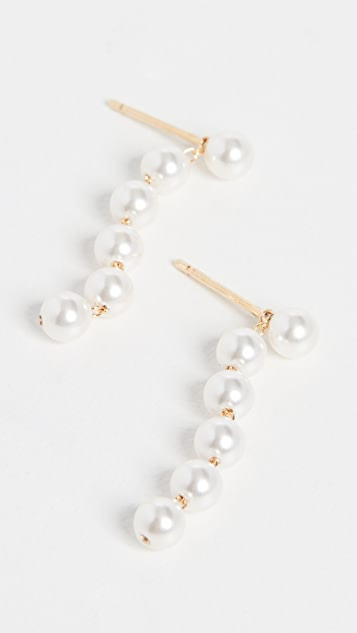 Cloverpost Pearl Flutter Earrings