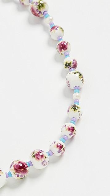 Cloverpost Splash Necklace In Purple/Green