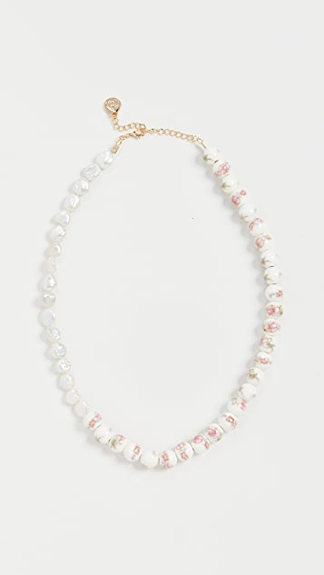Cloverpost James Necklace in Pink/Green