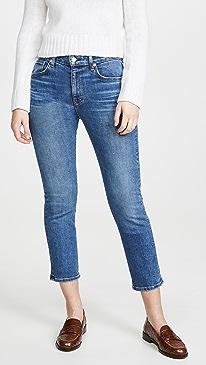Friend High Rise Straight Leg Jeans