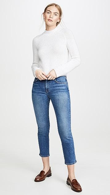 CQY Прямые джинсы Friend с высокой посадкой
