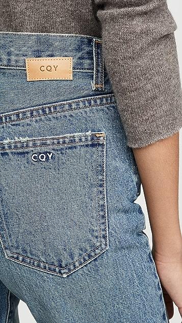CQY Свободные винтажные джинсы из винила