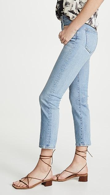 CQY Friend High-Rise Straight Leg Jeans