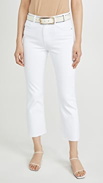 Wes High Rise Bootcut Crop Jeans