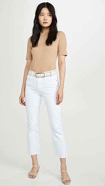 CQY Wes High Rise Bootcut Crop Jeans