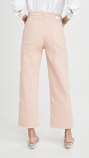 CQY Sunday Wide Leg Crop Jeans