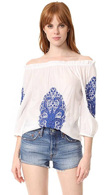 Christophe Sauvat Collection Cai Cai Off Shoulder Top