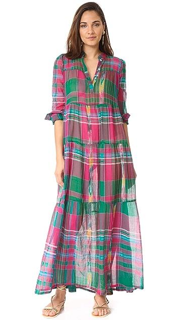 Christophe Sauvat Collection Camy Plaid Maxi Dress