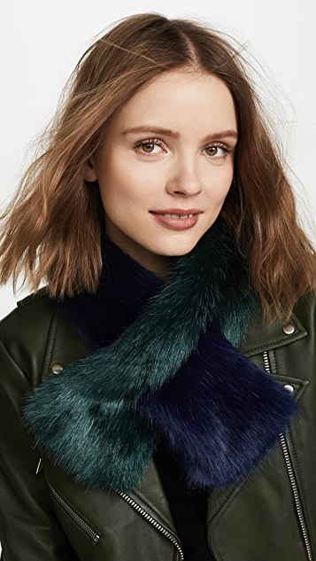 Charlotte Simone Polly Pop Faux Fur Scarf