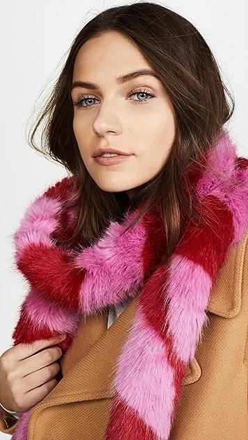 Charlotte Simone Lacey Faux Fur Scarf