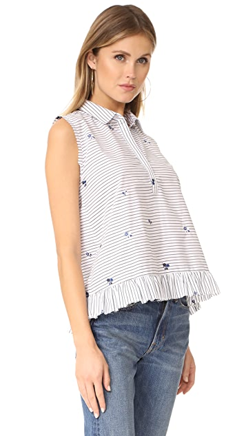 Cloth and Steel Lucia Embroidered Top