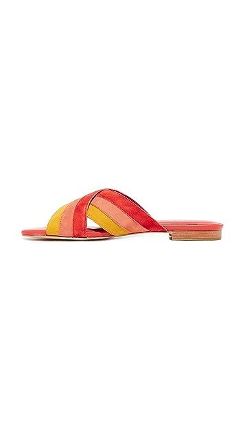 Charlotte Stone Tea Suede Slide Sandals