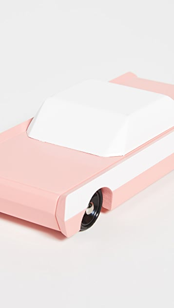 Candylab Toys Pink Flamingo Long Pink Sedan
