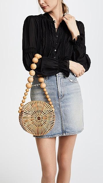 Cult Gaia Bamboo Circle Bag