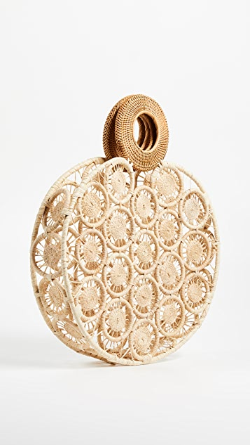 Cult Gaia Large Round Straw Bag