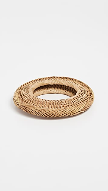 Cult Gaia Rattan Bangle Bracelet