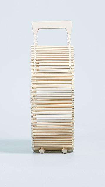 Cult Gaia Round Bamboo Bag