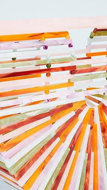Cult Gaia Acrylic Ark Small Clutch
