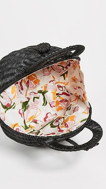 Cult Gaia Millie Rattan Bag