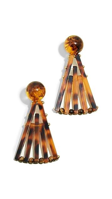 Cult Gaia Acrylic Fan Earrings