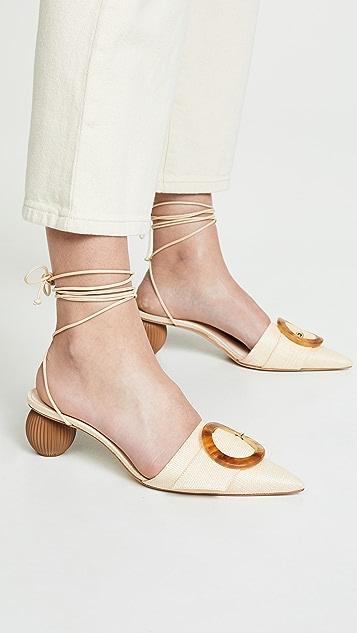 Cult Gaia Liya Heel Pumps - Natural