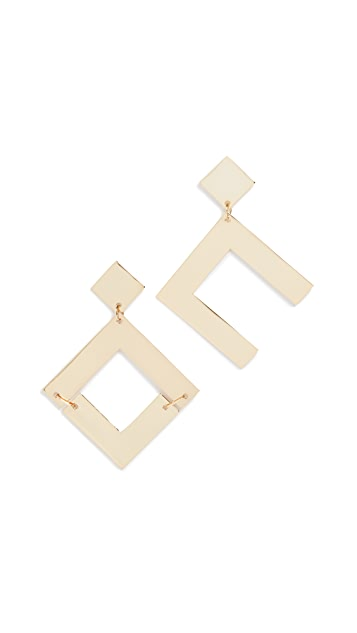 Cult Gaia Metal Tai Earrings
