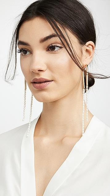 Cult Gaia Meta Dangle Earrings